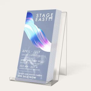 Metallic Rack Card Marketing Materials A