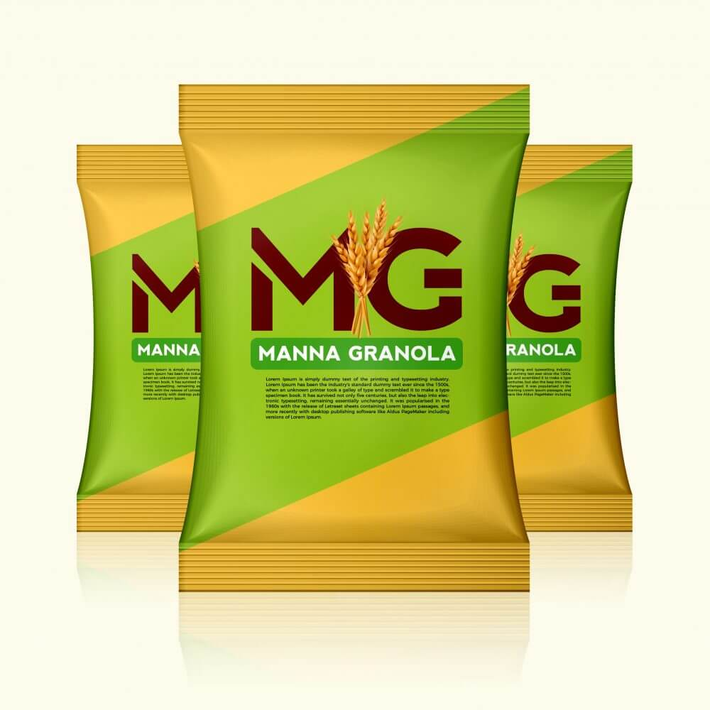 Manna Granola Packaging